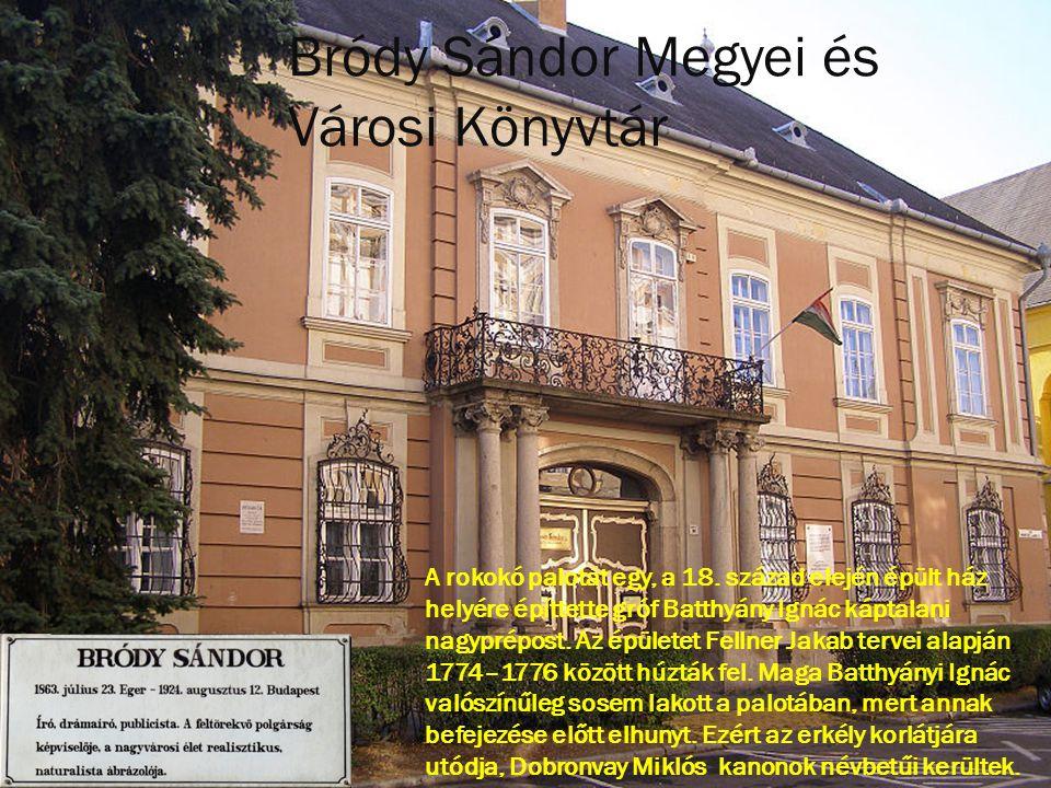 A rokokó palotát egy, a 18. század elején épült ház helyére építtette gróf Batthyány Ignác káptalani nagyprépost. Az épületet Fellner Jakab tervei ala