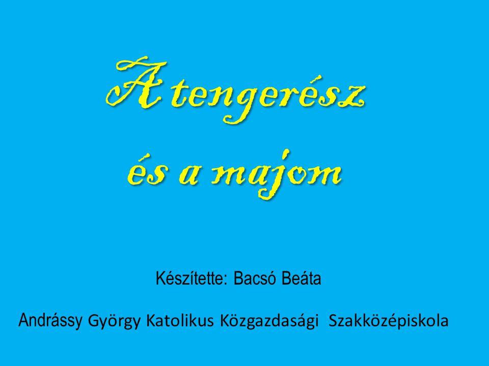 Készítette: Bacsó Beáta Andrássy György Katolikus Közgazdasági Szakközépiskola A tengerész és a majom