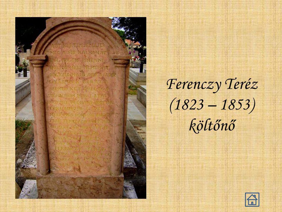 Ferenczy Teréz (1823 – 1853) költőnő