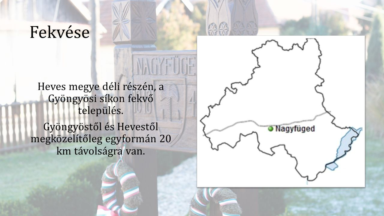 Fekvése Heves megye déli részén, a Gyöngyösi síkon fekvő település. Gyöngyöstől és Hevestől megközelítőleg egyformán 20 km távolságra van.