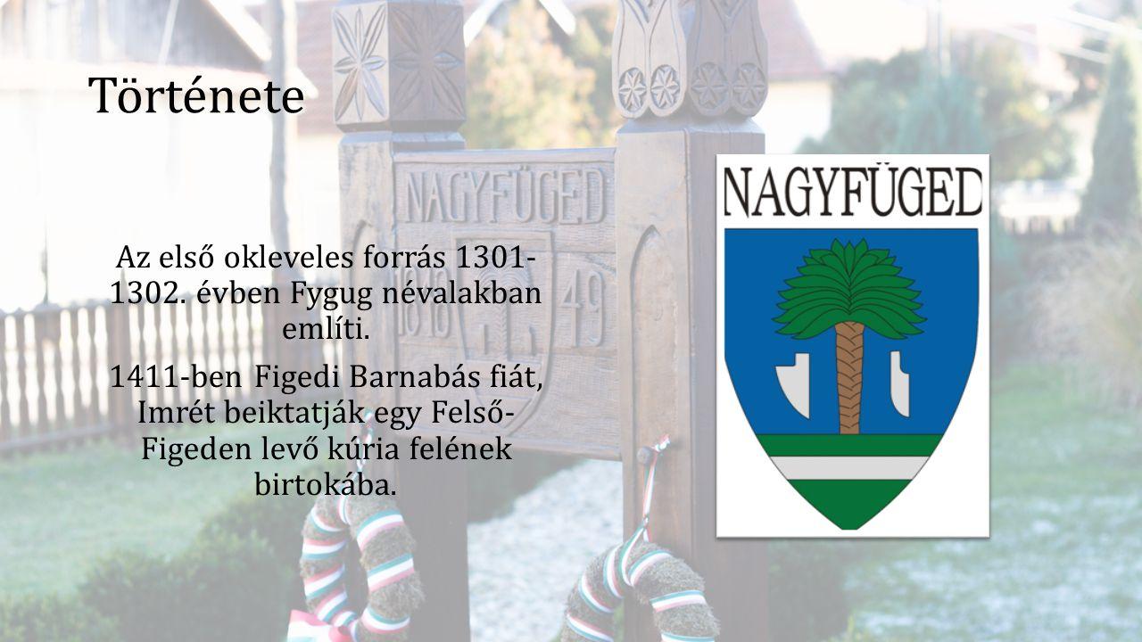 Története Az első okleveles forrás 1301- 1302. évben Fygug névalakban említi. 1411-ben Figedi Barnabás fiát, Imrét beiktatják egy Felső- Figeden levő