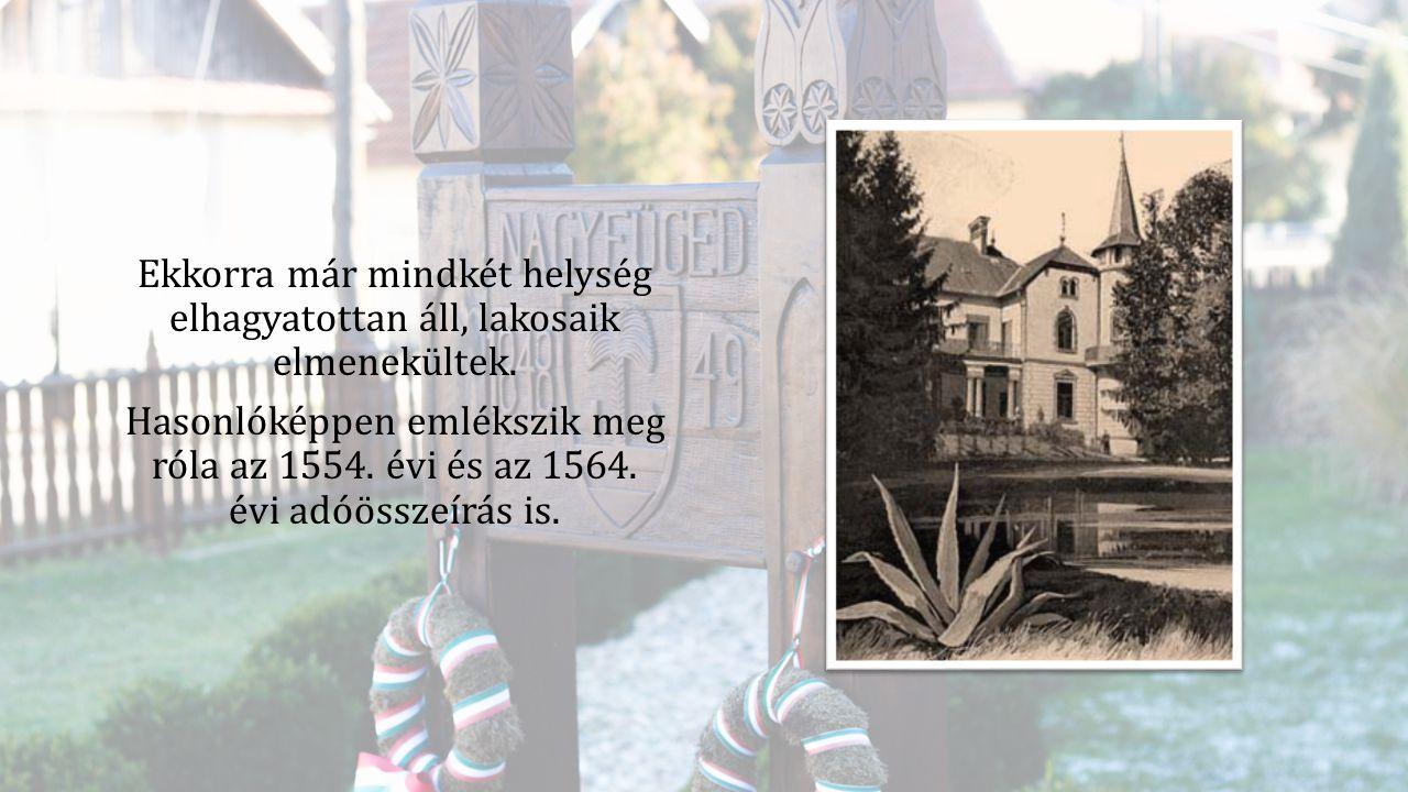 1635-ben azonban Nagy- Figed Három portája már portális adót fizető, telkes gazdák által lakott jobbágy falu.