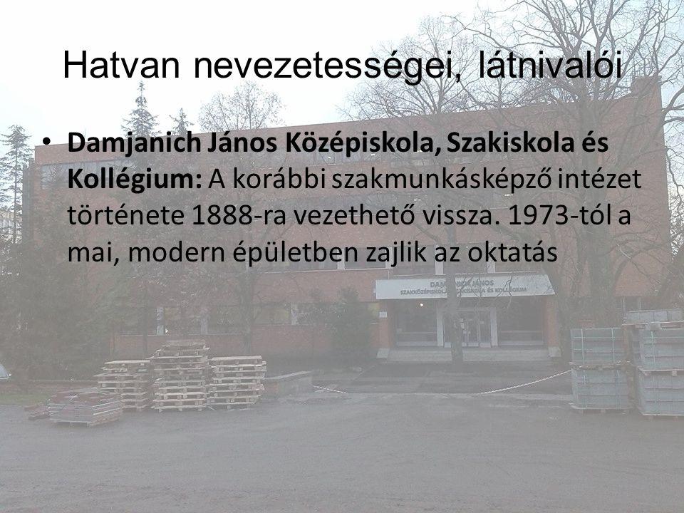 Damjanich János Középiskola, Szakiskola és Kollégium: A korábbi szakmunkásképző intézet története 1888-ra vezethető vissza. 1973-tól a mai, modern épü