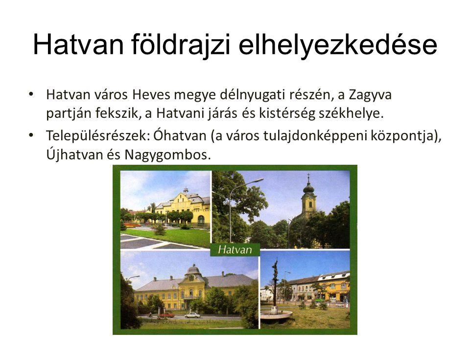 Hatvan földrajzi elhelyezkedése Hatvan város Heves megye délnyugati részén, a Zagyva partján fekszik, a Hatvani járás és kistérség székhelye. Települé