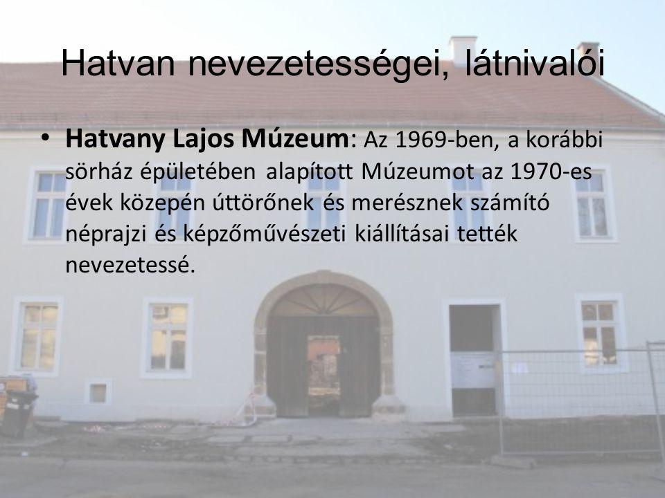 Hatvany Lajos Múzeum: Az 1969-ben, a korábbi sörház épületében alapított Múzeumot az 1970-es évek közepén úttörőnek és merésznek számító néprajzi és k