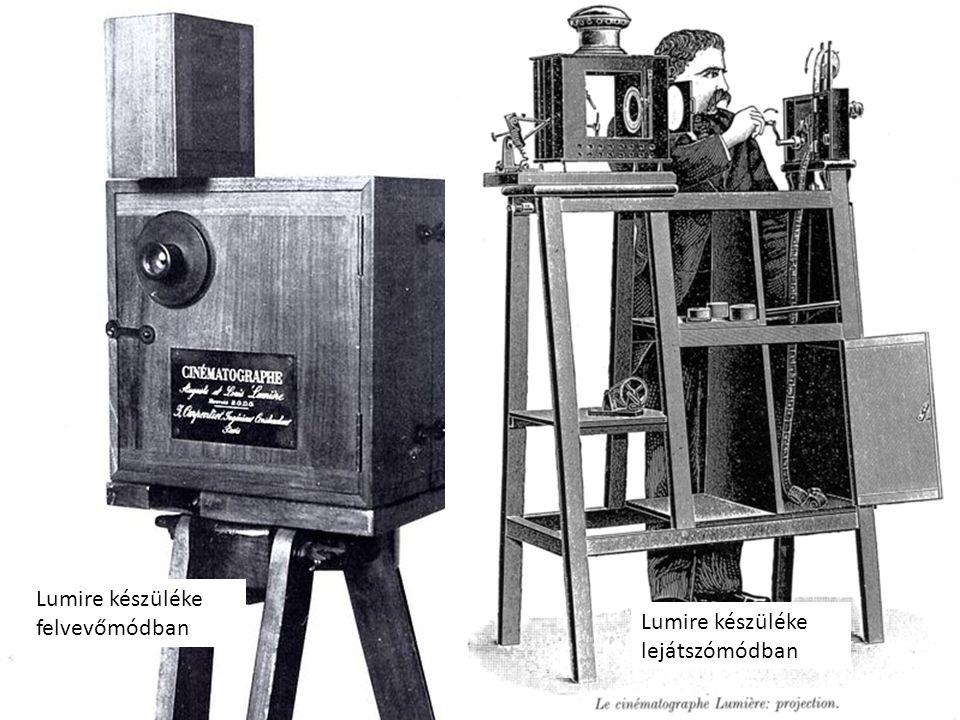 Lumire készüléke felvevőmódban Lumire készüléke lejátszómódban