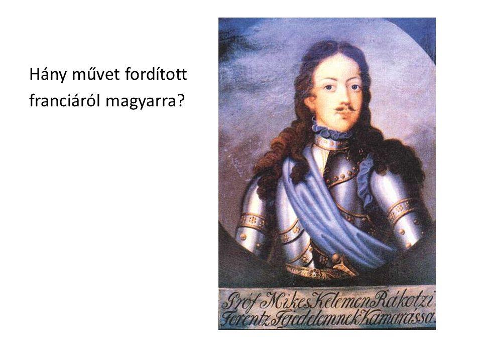 Hány művet fordított franciáról magyarra?