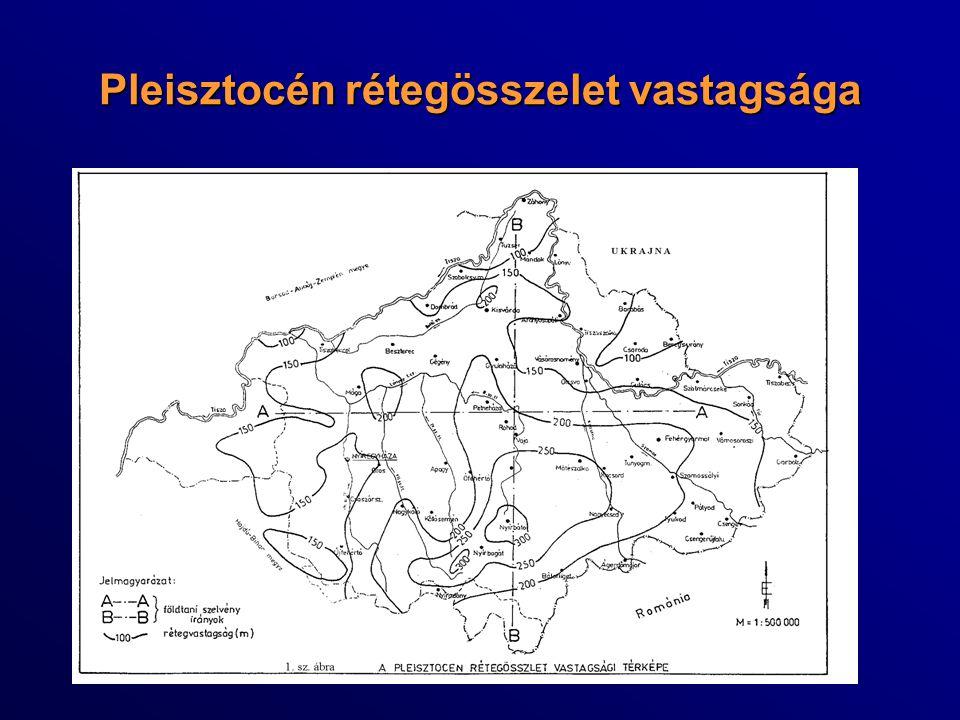 Pleisztocén rétegösszelet vastagsága