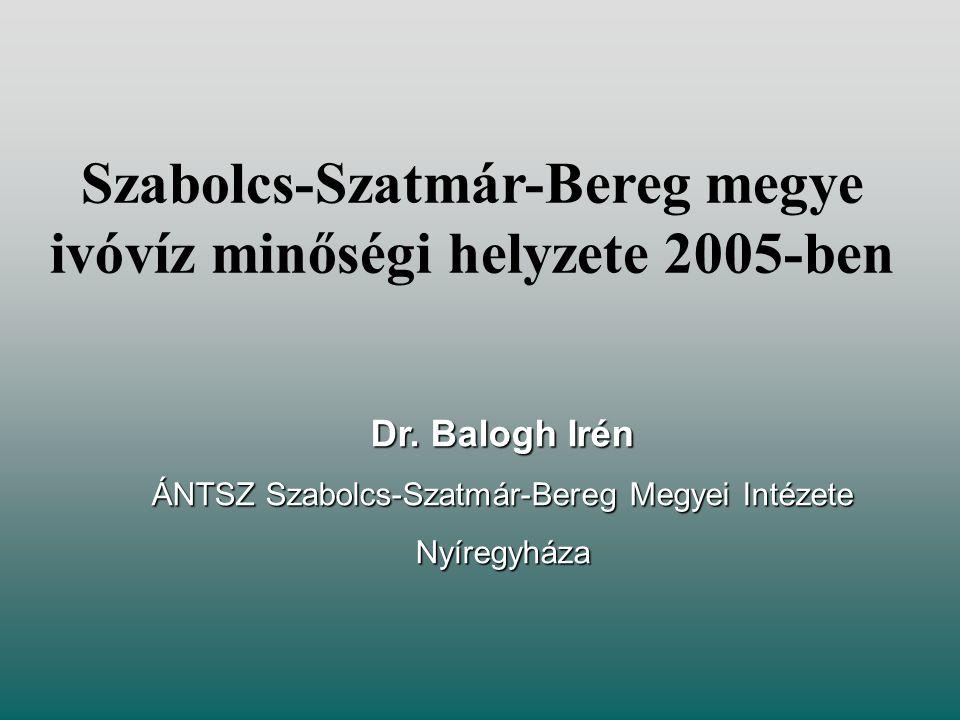 Szabolcs-Szatmár-Bereg megye ivóvíz minőségi helyzete 2005-ben Dr.