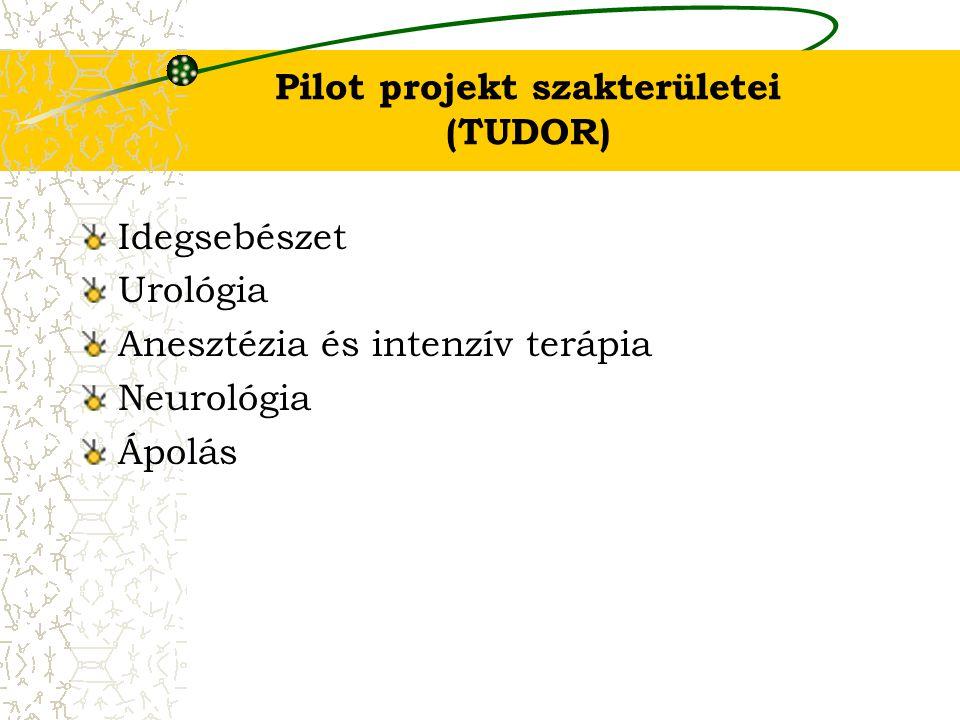 Pilot projekt szakterületei (TUDOR) Idegsebészet Urológia Anesztézia és intenzív terápia Neurológia Ápolás