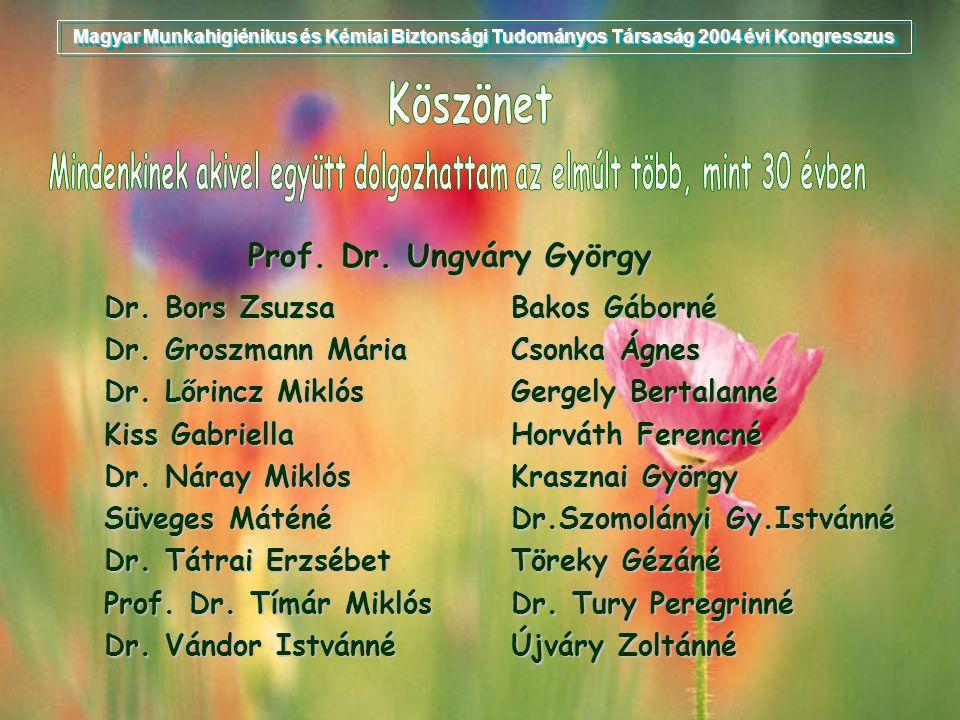 Dr. Bors Zsuzsa Dr. Groszmann Mária Dr. Lőrincz Miklós Kiss Gabriella Dr. Náray Miklós Süveges Máténé Dr. Tátrai Erzsébet Prof. Dr. Tímár Miklós Dr. V