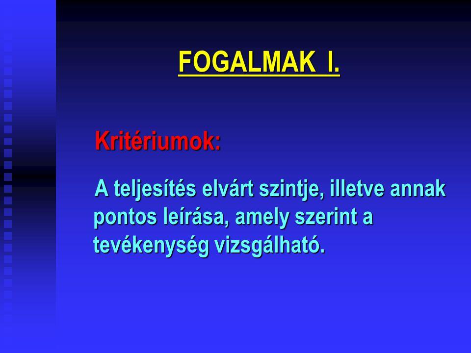 FOGALMAK I.