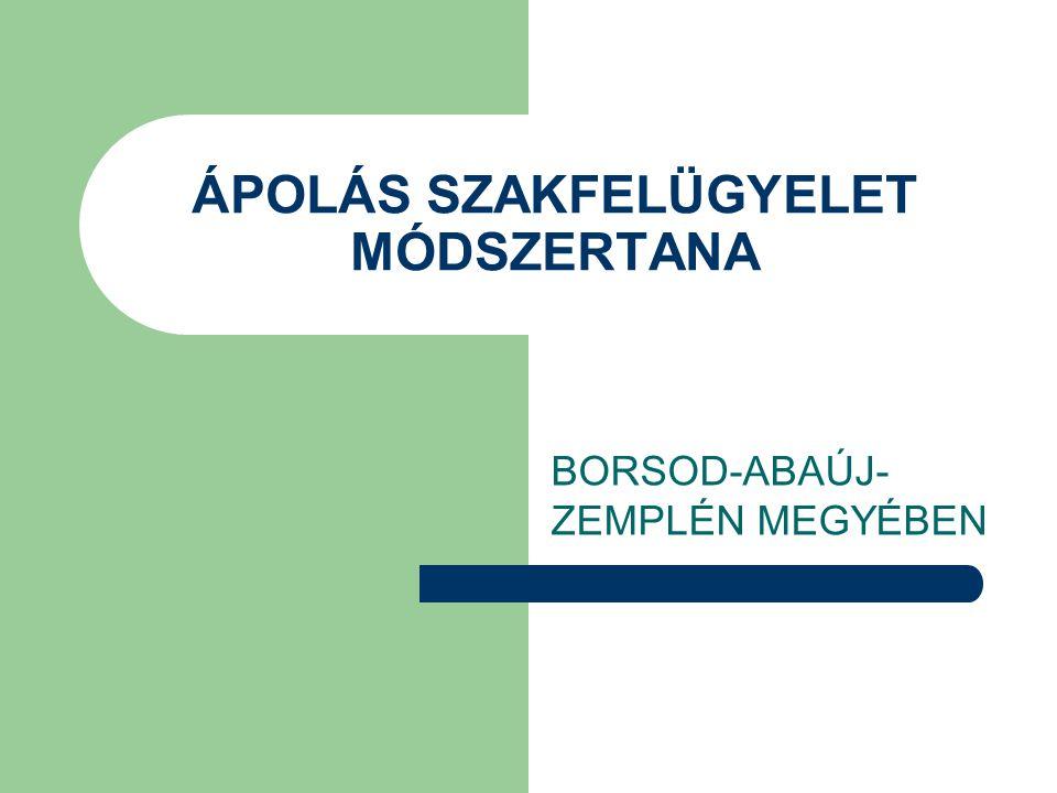 ÁPOLÁS SZAKFELÜGYELET MÓDSZERTANA BORSOD-ABAÚJ- ZEMPLÉN MEGYÉBEN