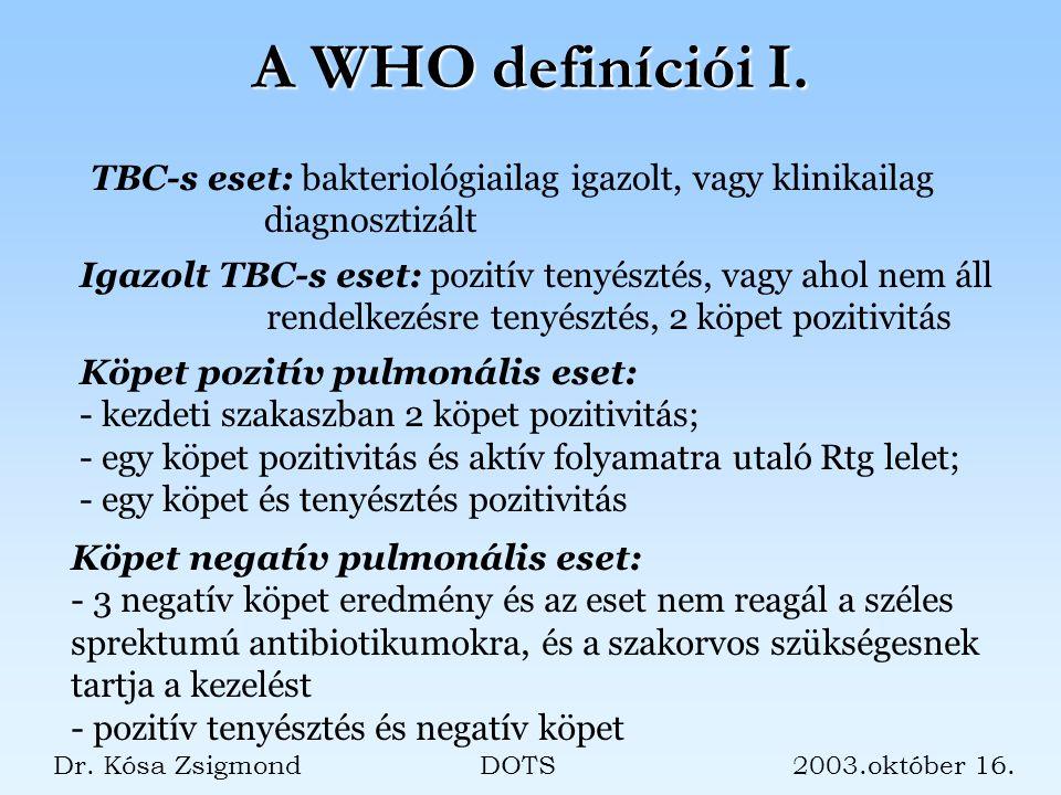 A WHO definíciói I.