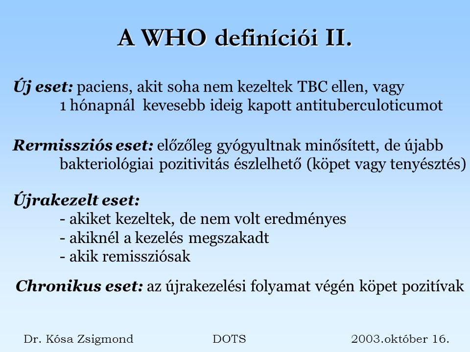 A WHO definíciói II.