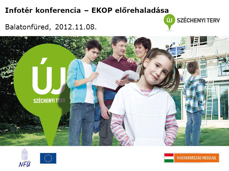 Infotér konferencia – EKOP előrehaladása Balatonfüred, 2012.11.08.