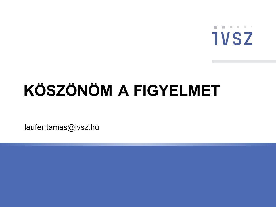 KÖSZÖNÖM A FIGYELMET laufer.tamas@ivsz.hu