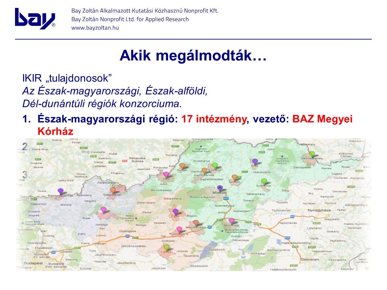 """Akik megálmodták… IKIR """"tulajdonosok"""" Az Észak-magyarországi, Észak-alföldi, Dél-dunántúli régiók konzorciuma. 1.Észak-magyarországi régió: 17 intézmé"""
