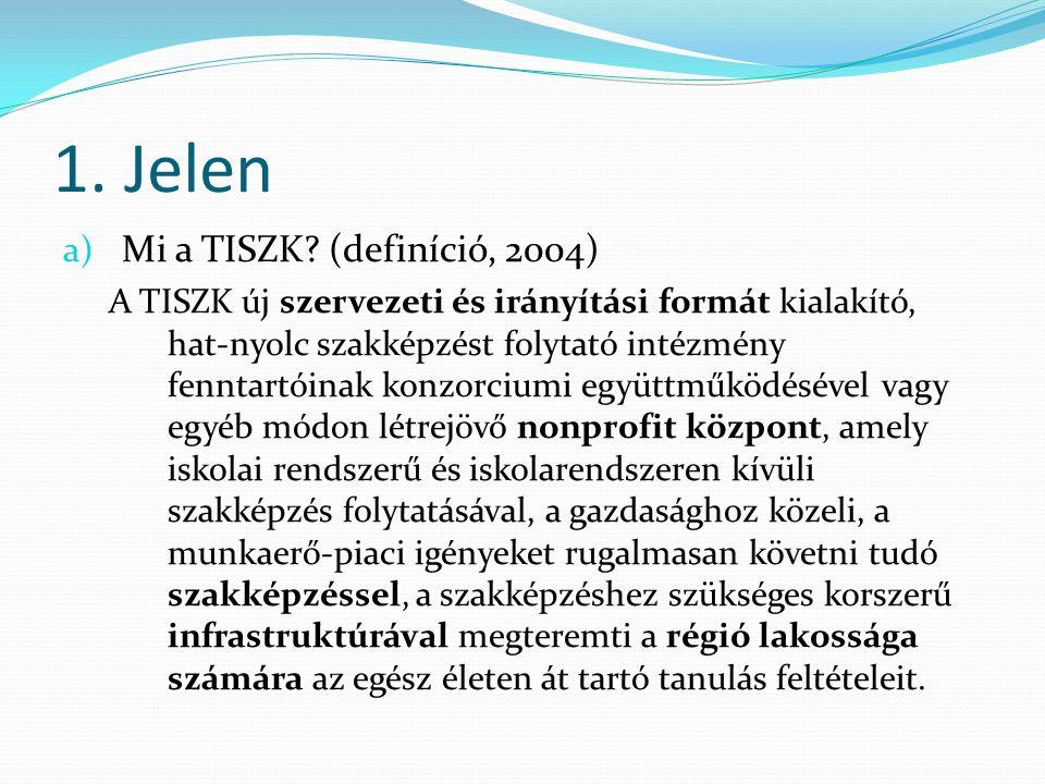 1.Jelen a) Mi a TISZK. Jogszabályi meghatározás (1993.