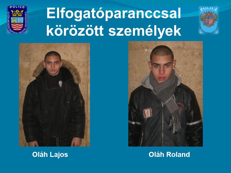 Elfogatóparanccsal körözött személyek Oláh LajosOláh Roland