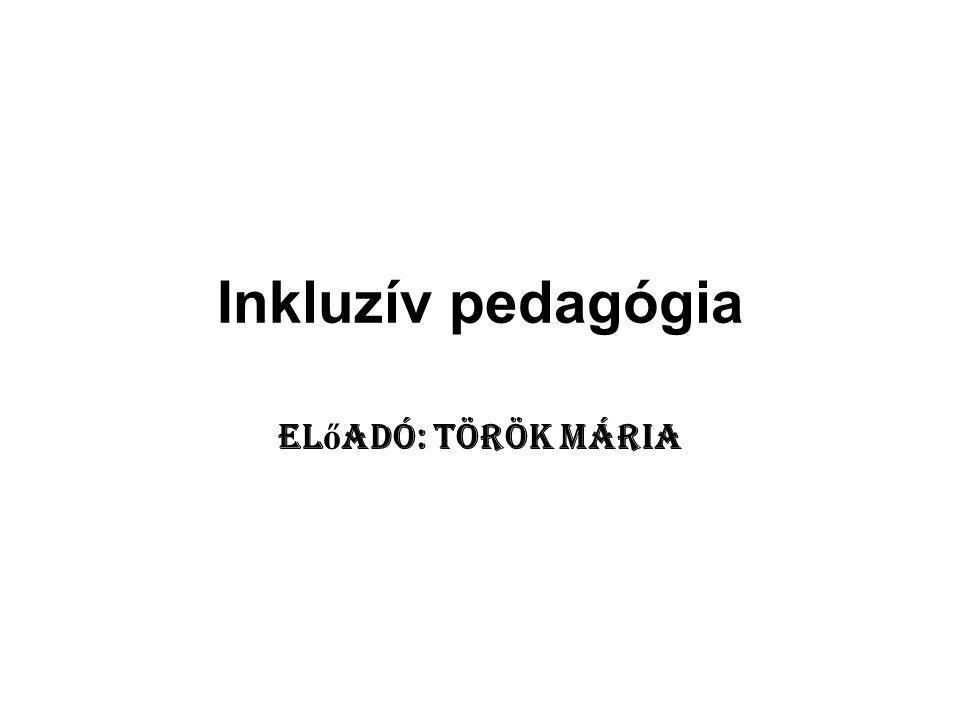 Integráció fogalma: Az integratív pedagógia az együttnevelési folyamatot az akadályozottság, ebből következően a speciális szükségletek és a segítségnyújtás aspektusából vizsgálja.
