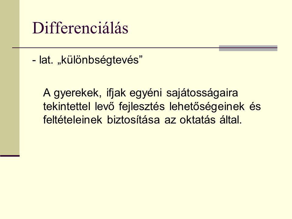 Differenciálás - lat.