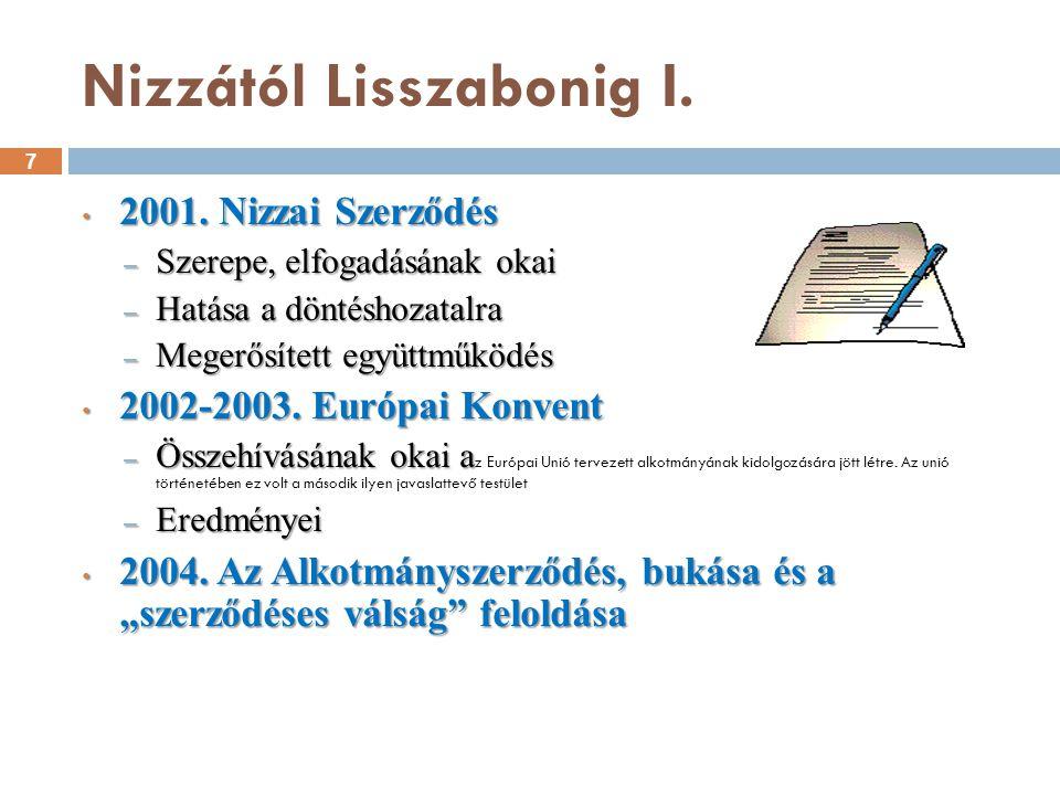 Nizzától Lisszabonig II.8 2004. Keleti bővítés 2004.