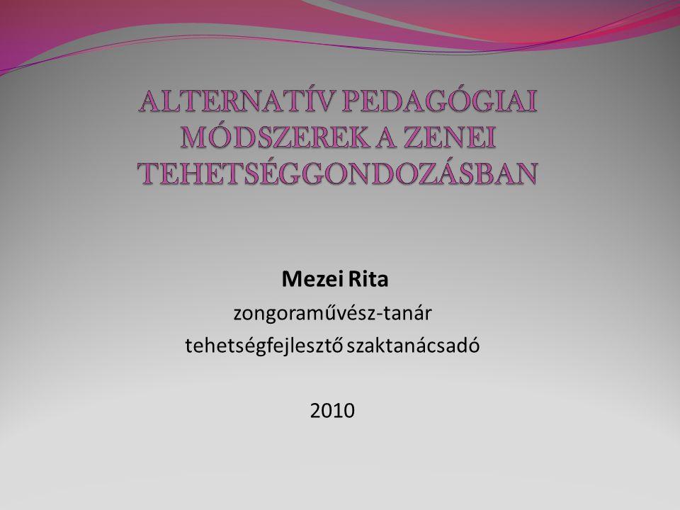 Mezei Rita zongoraművész-tanár tehetségfejlesztő szaktanácsadó 2010