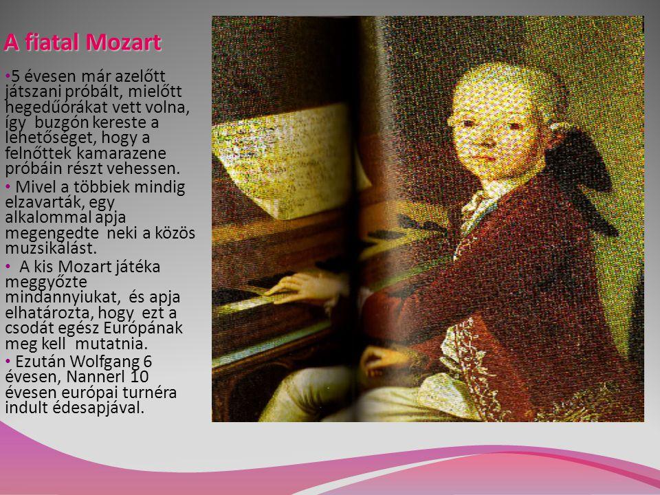 A fiatal Mozart 5 évesen már azelőtt játszani próbált, mielőtt hegedűórákat vett volna, így buzgón kereste a lehetőséget, hogy a felnőttek kamarazene