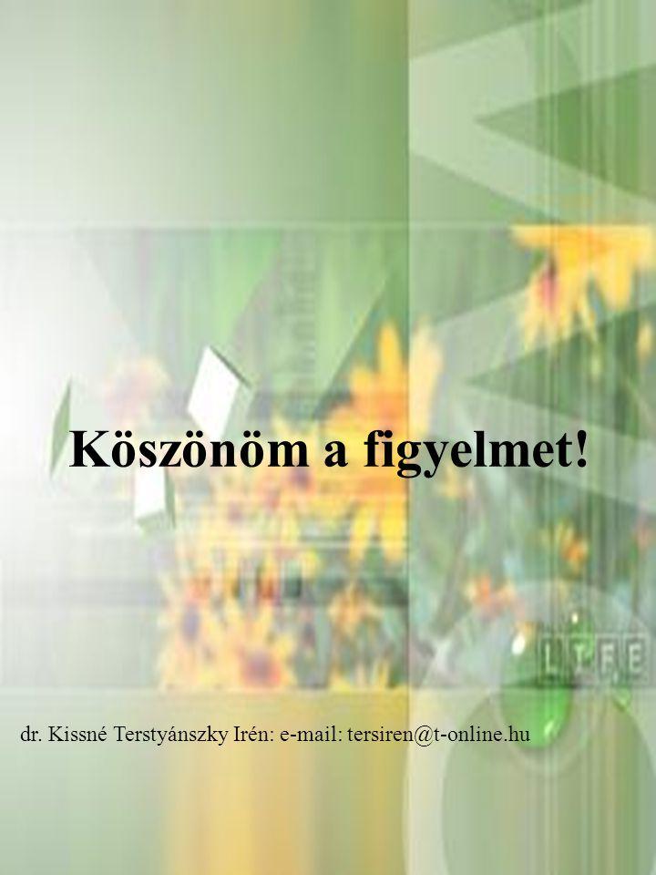 2014. 08. 17.24 Köszönöm a figyelmet! dr. Kissné Terstyánszky Irén: e-mail: tersiren@t-online.hu