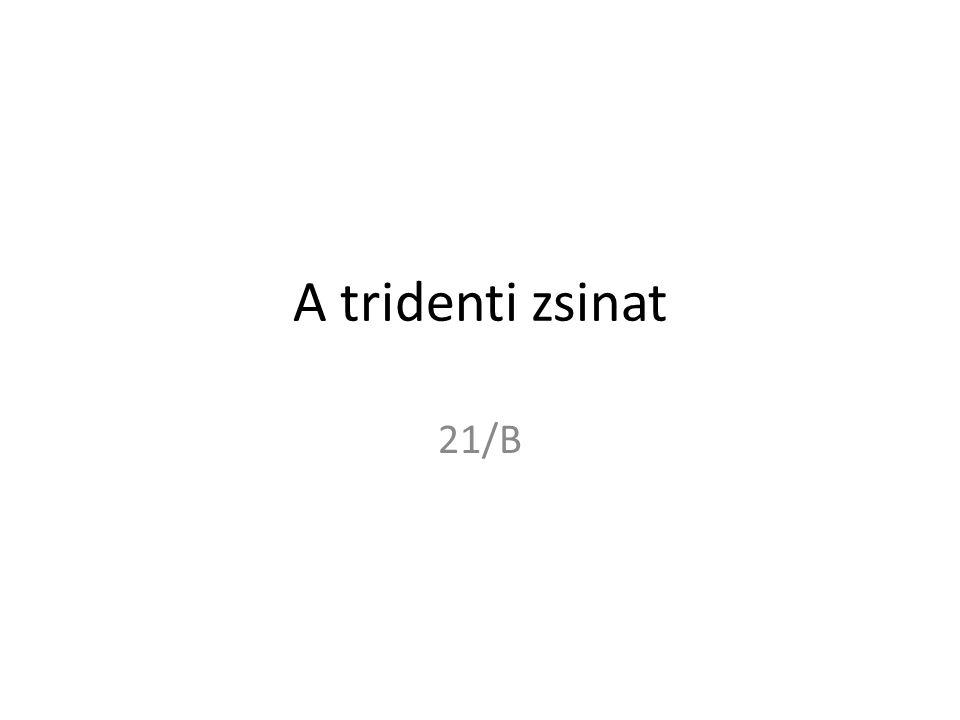 A tridenti zsinat 21/B