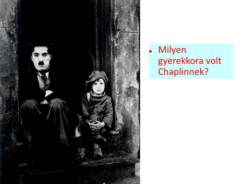 Milyen gyerekkora volt Chaplinnek