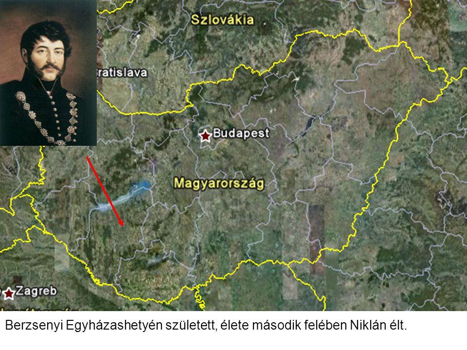 Berzsenyi Egyházashetyén született, élete második felében Niklán élt.