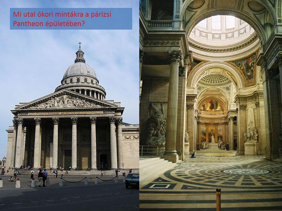Mi utal ókori mintákra a párizsi Pantheon épületében?