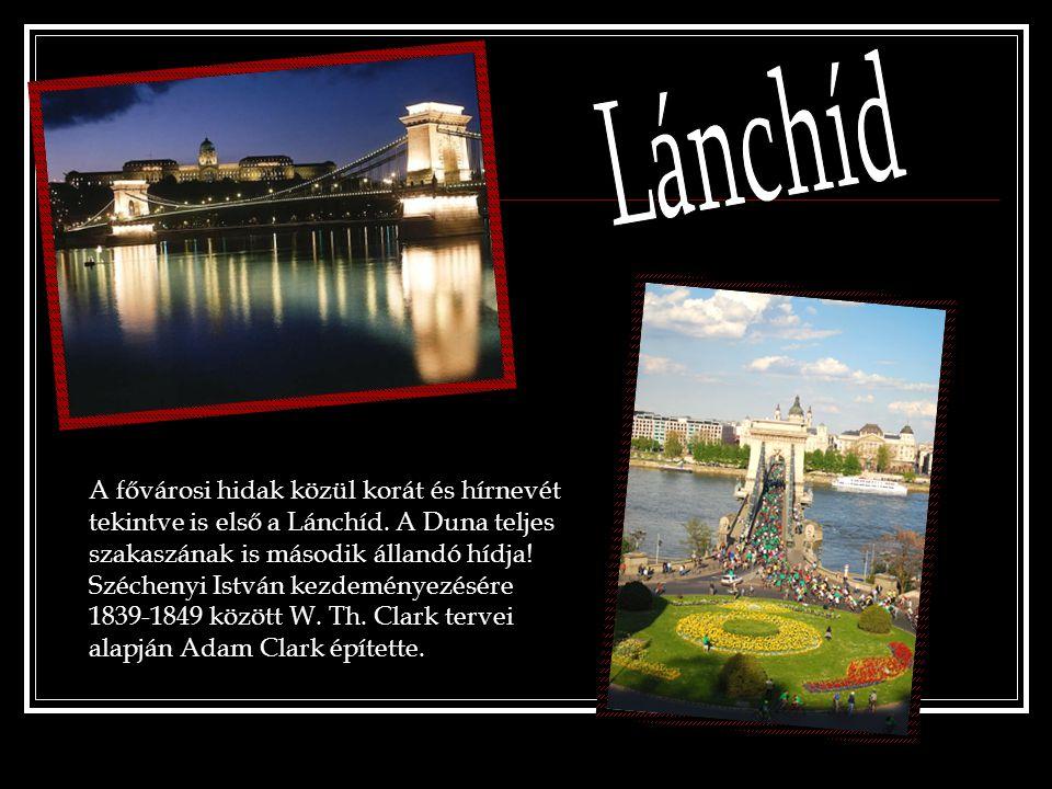 A fővárosi hidak közül korát és hírnevét tekintve is első a Lánchíd. A Duna teljes szakaszának is második állandó hídja! Széchenyi István kezdeményezé