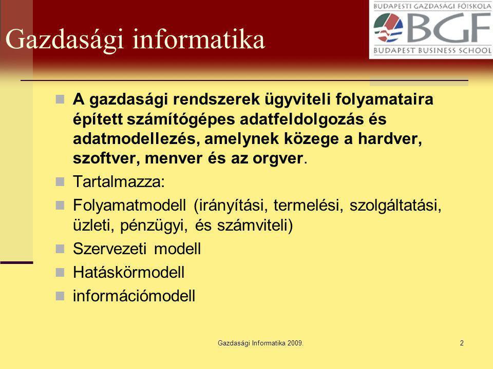 Gazdasági Informatika 2009.33