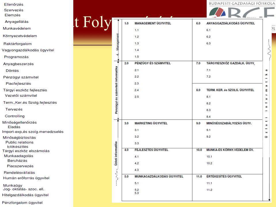 Gazdasági Informatika 2009.5 3.01 feladat Folyamatépítés