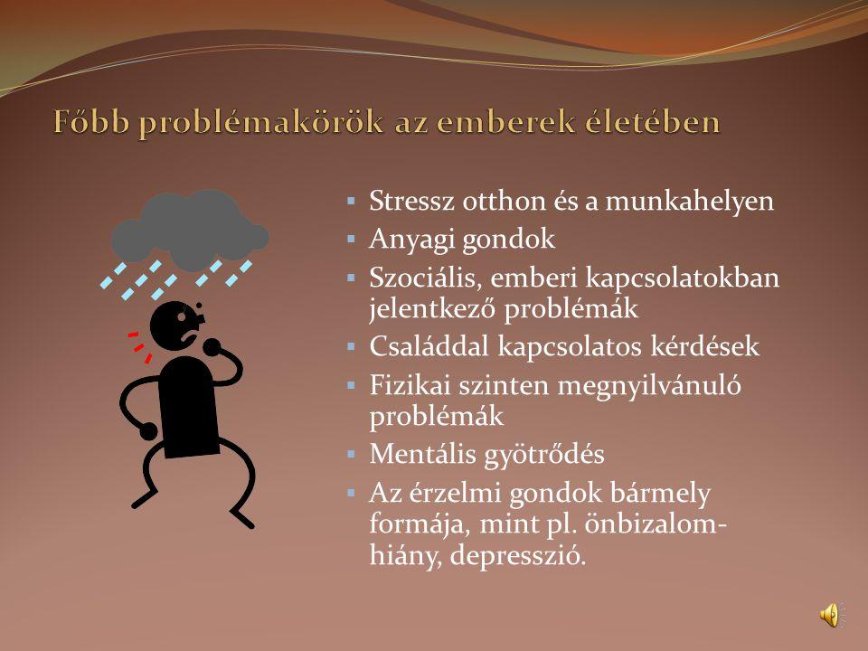 A személyes probléma beazonosítása  Mi az a fő probléma, amivel szembe kell néznem az életemben.