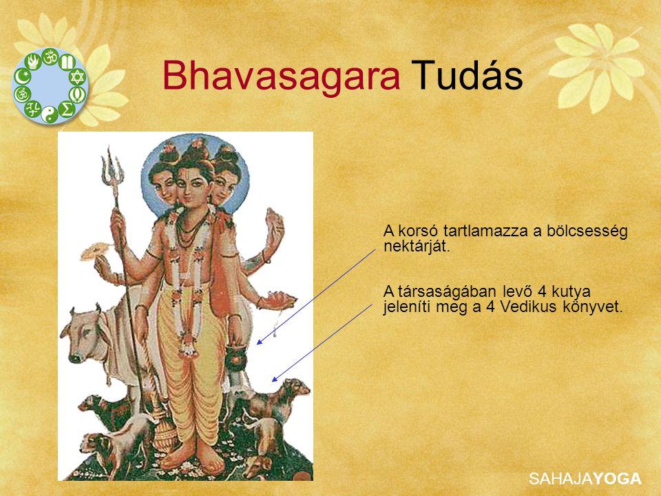 SAHAJAYOGA Bhavasagara Tudás A korsó tartlamazza a bölcsesség nektárját. A társaságában levő 4 kutya jeleníti meg a 4 Vedikus könyvet.