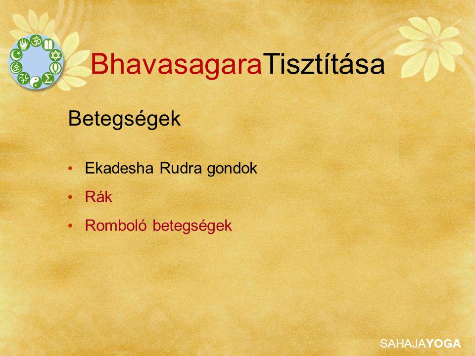 SAHAJAYOGA Betegségek BhavasagaraTisztítása Ekadesha Rudra gondok Rák Romboló betegségek