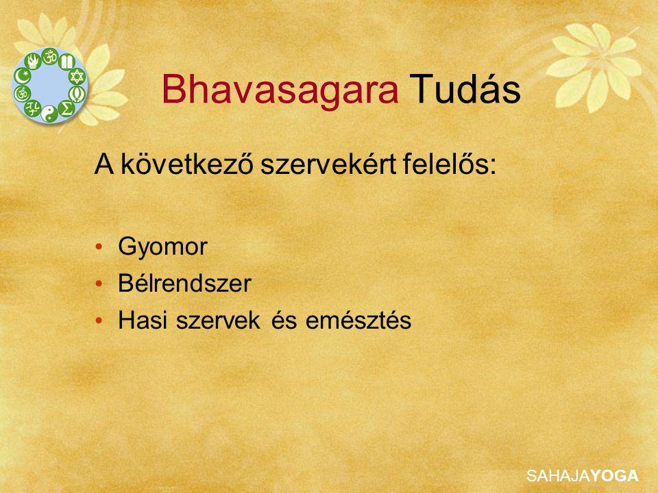 SAHAJAYOGA Bhavasagara Tudás Tulajdonságok Egyensúly és mélység Dharma - becsületesség, erény Gravitáció Határozottság, döntésképesség Saját mester Útmutatás és mások segítése a spirituális fejlődésben