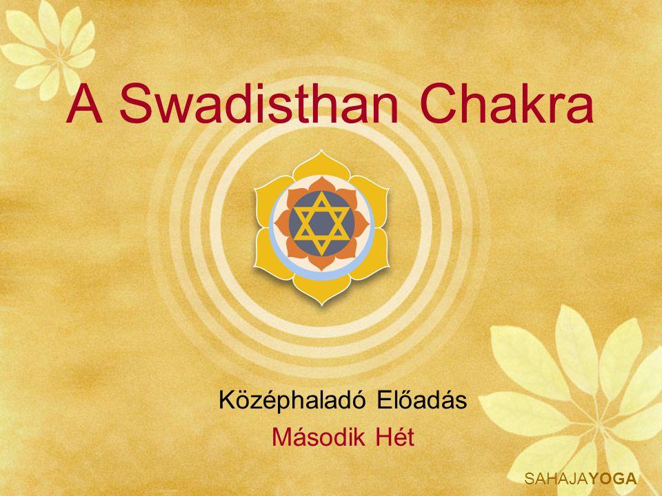 SAHAJAYOGA Swadisthan Tudás A Swadisthan chakra mantrája AUM twameva sakshat Shri Saraswati Brahmadeva sakshat Shri Adi Shakti Mataji Shri Nirmala Devi Namo Namaha