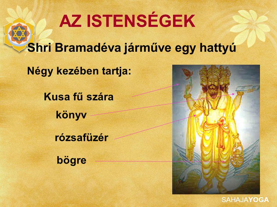 SAHAJAYOGA AZ ISTENSÉGEK Sakti (feleség) SHRI SARASWATI, a művészetek, tudomány és beszéd Istennője.