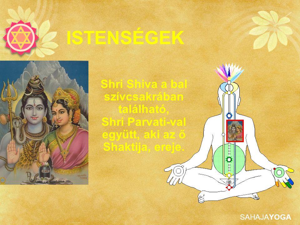 SAHAJAYOGA ISTENSÉGEK Shri Shiva a bal szívcsakrában található, Shri Parvati-val együtt, aki az ő Shaktija, ereje.