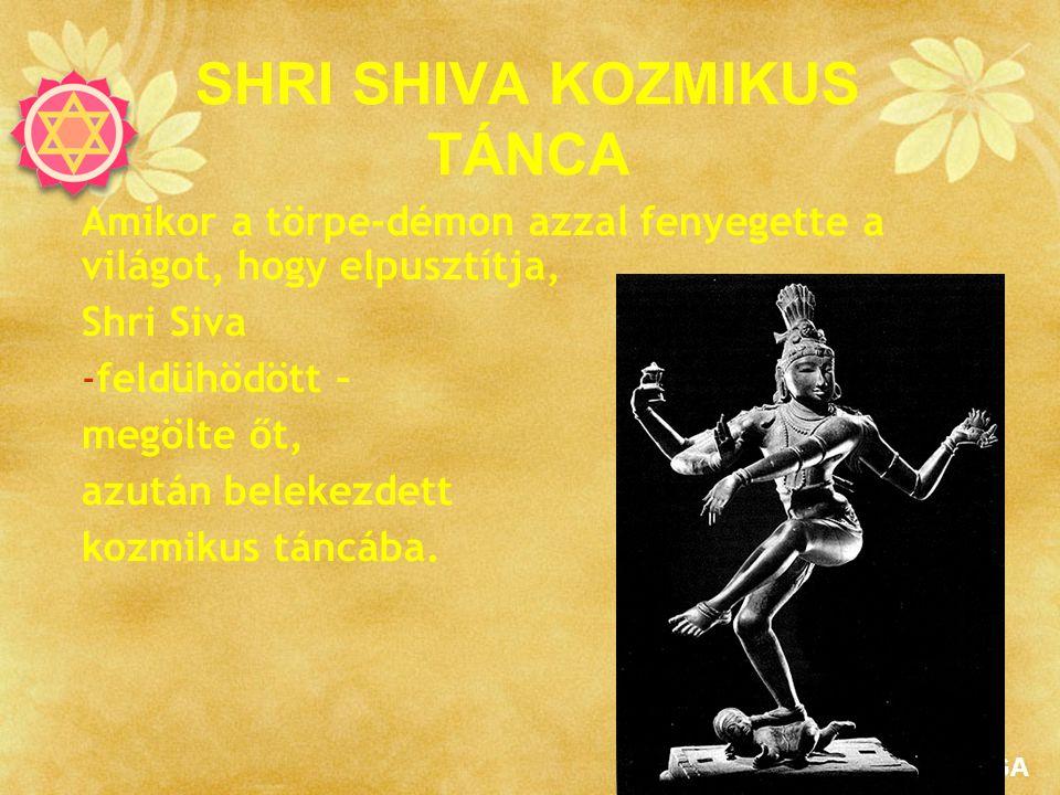 SAHAJAYOGA SHRI SHIVA KOZMIKUS TÁNCA Amikor a törpe-démon azzal fenyegette a világot, hogy elpusztítja, Shri Siva -feldühödött – megölte őt, azután be