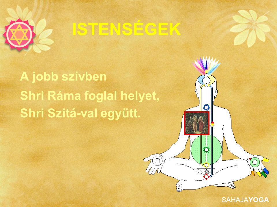 SAHAJAYOGA ISTENSÉGEK A jobb szívben Shri Ráma foglal helyet, Shri Szitá-val együtt.