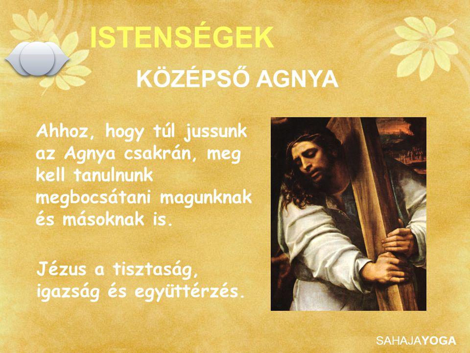 SAHAJAYOGA ISTENSÉGEK Ahhoz, hogy túl jussunk az Agnya csakrán, meg kell tanulnunk megbocsátani magunknak és másoknak is. Jézus a tisztaság, igazság é