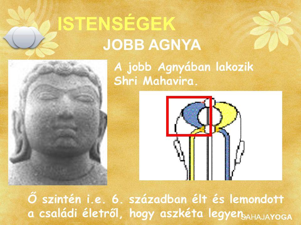 SAHAJAYOGA ISTENSÉGEK Ő szintén i.e. 6. században élt és lemondott a családi életről, hogy aszkéta legyen. JOBB AGNYA A jobb Agnyában lakozik Shri Mah