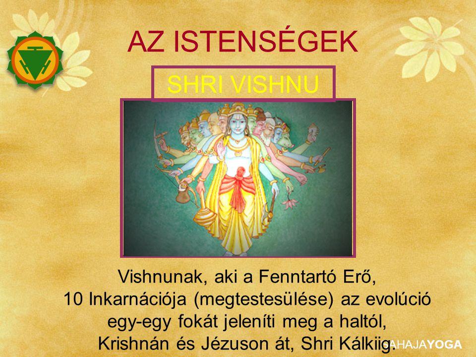 SAHAJAYOGA Vishnunak, aki a Fenntartó Erő, 10 Inkarnációja (megtestesülése) az evolúció egy-egy fokát jeleníti meg a haltól, Krishnán és Jézuson át, S