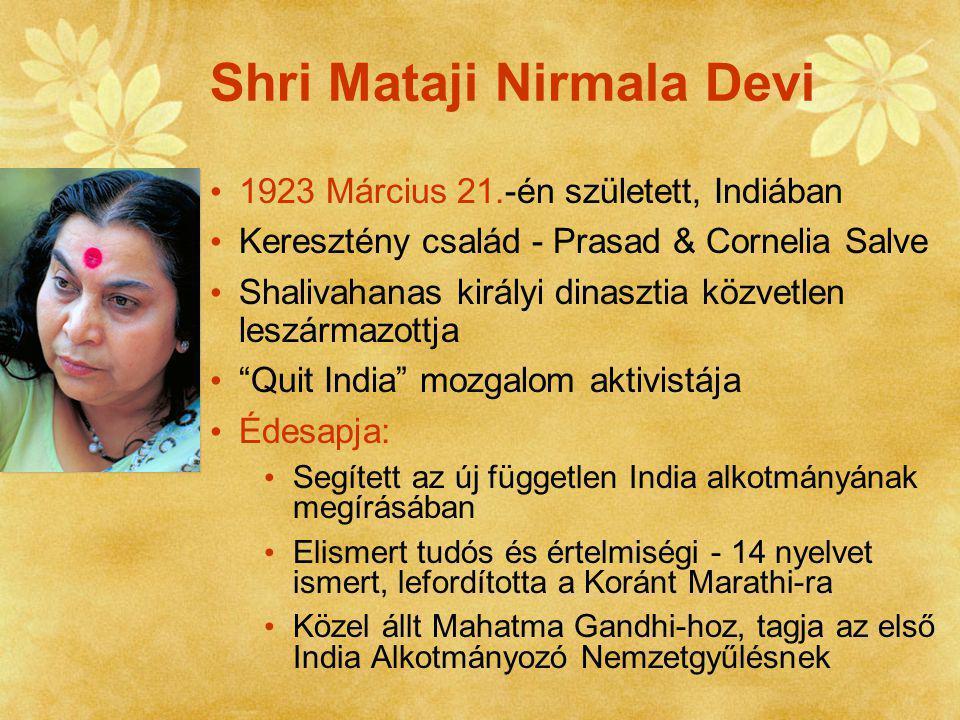 Édesanyja volt az első indiai nő, aki a matematika területén tudományos fokozatot szerzett Nirmala = Tiszta, makulátlan Mahatma Ghandi ashramja Ifjúsági mozgalom vezére Börtön - Szabadítsuk fel Indiát Mozgalom, 1942 Orvostan és pszichológia hallgató a Lahore-i Keresztény Orvosi Akadémián